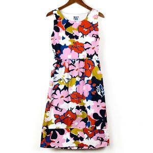 Anthropologie Whit Two Colorful Floral Dress